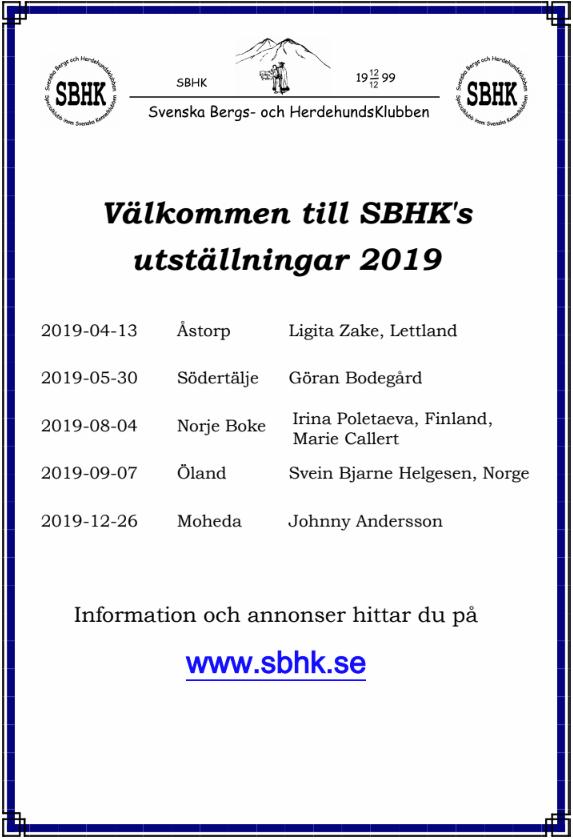 SBHK2019